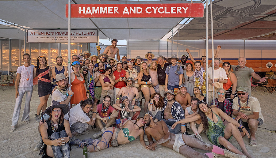 Burning Man rental bikes